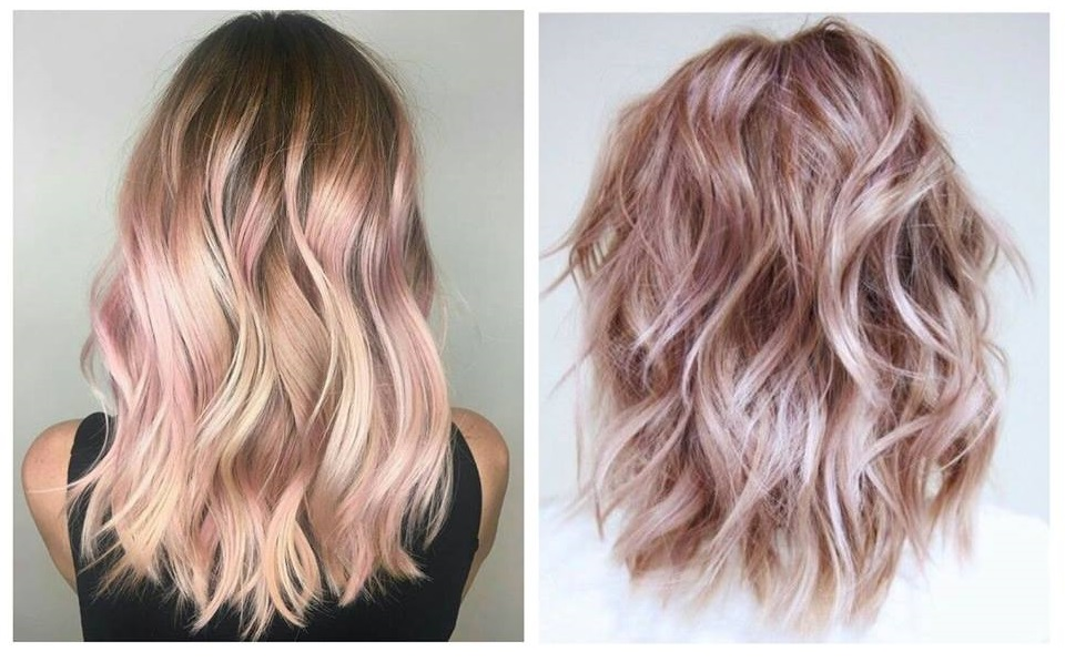 White and pink ombre hair
